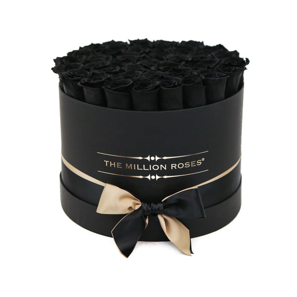 Grande - Black Eternity Roses - Black Box - The Million Roses Europe