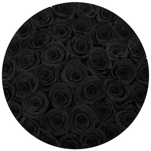 Classic - Black Eternity Roses - Shiny Gold Box - The Million Roses Europe