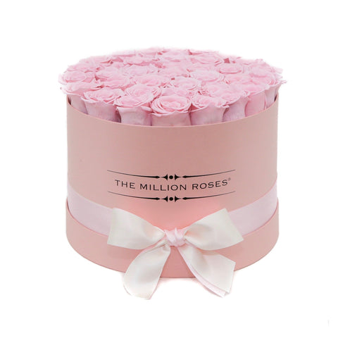 Premium - Candy Pink Eternity Roses - Pink Box - The Million Roses Europe