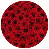 LOVE Medium White - Red Eternity Roses - The Million Roses Europe