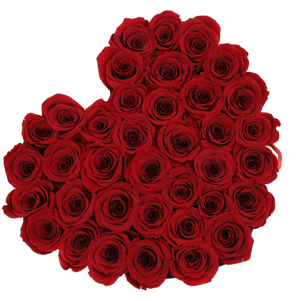The Million Love Heart - Red Eternity Roses - Black Box - The Million Roses Europe