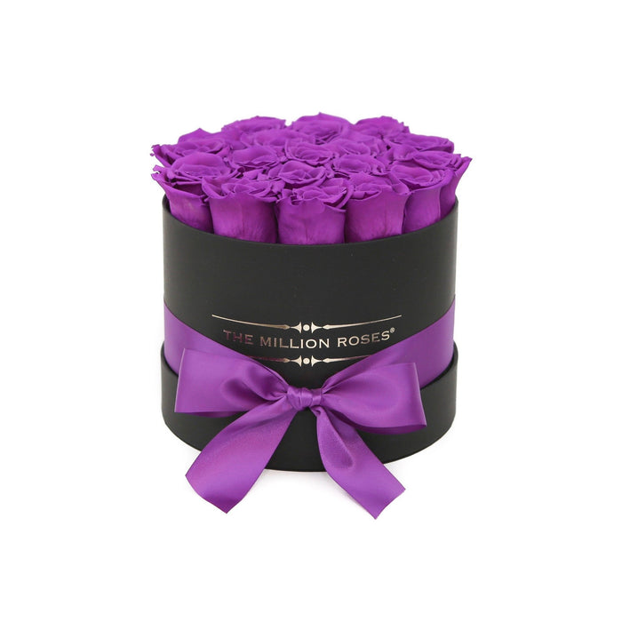 Small - Purple Eternity Roses - Black Box - The Million Roses Europe - Italia, France, Österreich, Deutschland, Espana
