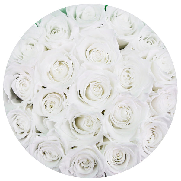 The Million Roses Europe - Small - White Roses - White Box Delivered Anywhere in Europe