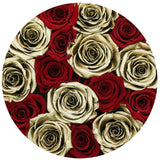 Small - Red & Gold Eternity Roses - Black Box - The Million Roses Europe - Italia, France, Österreich, Deutschland, Espana