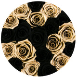 Classic - Black & Gold Eternity Roses - Gold Box - The Million Roses Europe