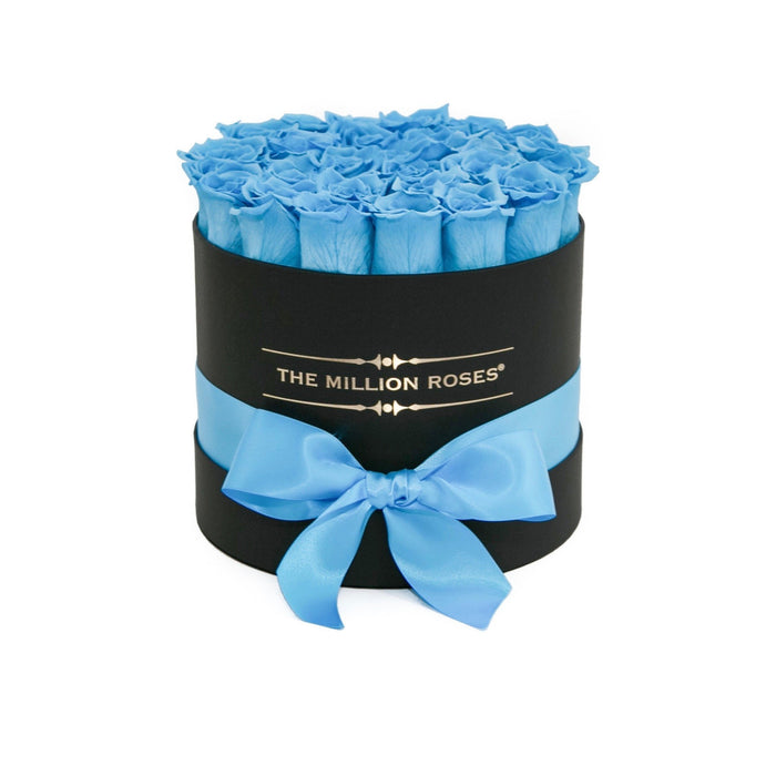 Small - Light Blue Roses - Black Box - The Million Roses Europe - Italia, France, Österreich, Deutschland, Espana