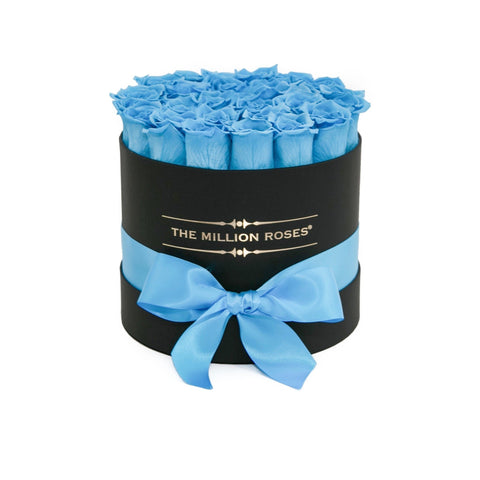 Classic - Light Blue Eternity Roses - Black Box - The Million Roses Europe