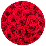 Classic - Red Eternity Roses - Black Flower Logo Box - The Million Roses Europe