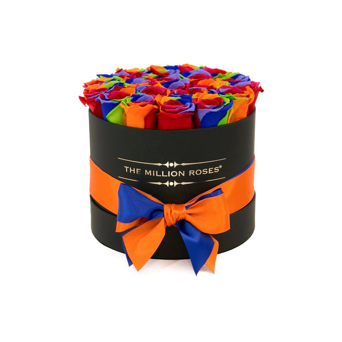 The Million Roses Europe - Small - Rainbow Eternity Roses - Black Box Delivered Anywhere in Europe