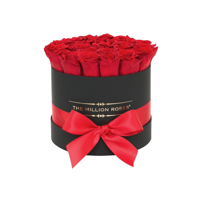 Small - Red Eternity Roses - Black Box