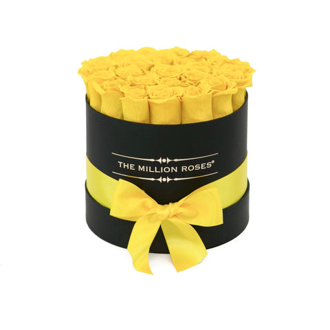 Classic - Light Yellow Eternity Roses - Black Box - The Million Roses Europe