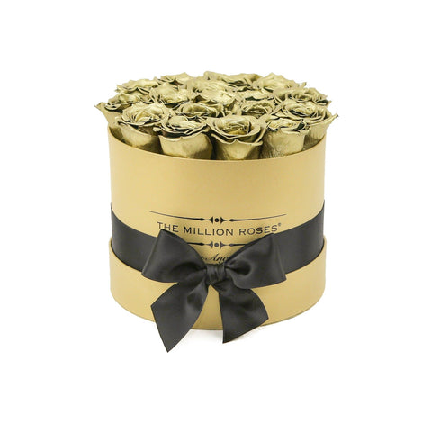 Classic - Gold Eternity Roses - Gold Box - The Million Roses Europe