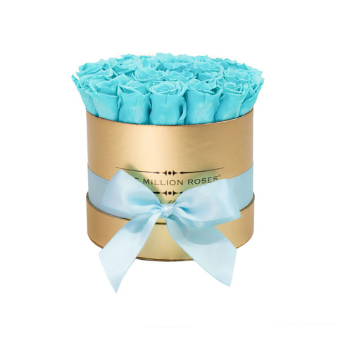 Classic - Tiffany Blue Eternity Roses - Gold Box - The Million Roses Europe