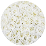 Premium - White Eternity Roses - Royal Blue Box - The Million Roses Europe