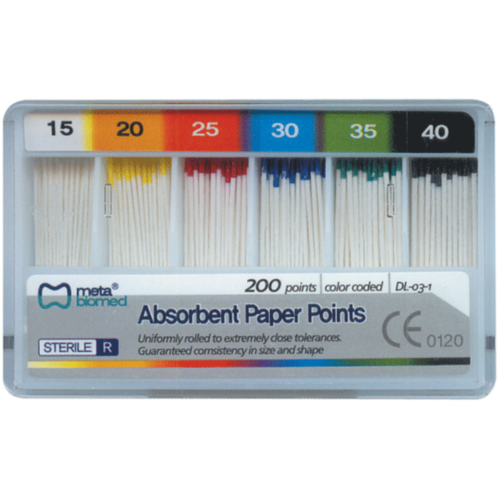 Absorbant Paper Points Box/60 Tapered .04