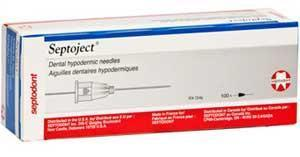 Septoject Needles 25 Long Red 100/Bx
