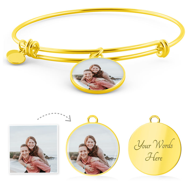 Personalized Photo Charm Bangle