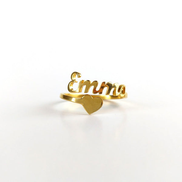 Personalized Spiral Name Ring