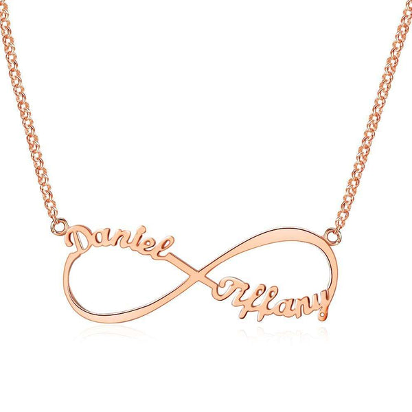 Personalized Infinity Necklace 925 Sterling Silver