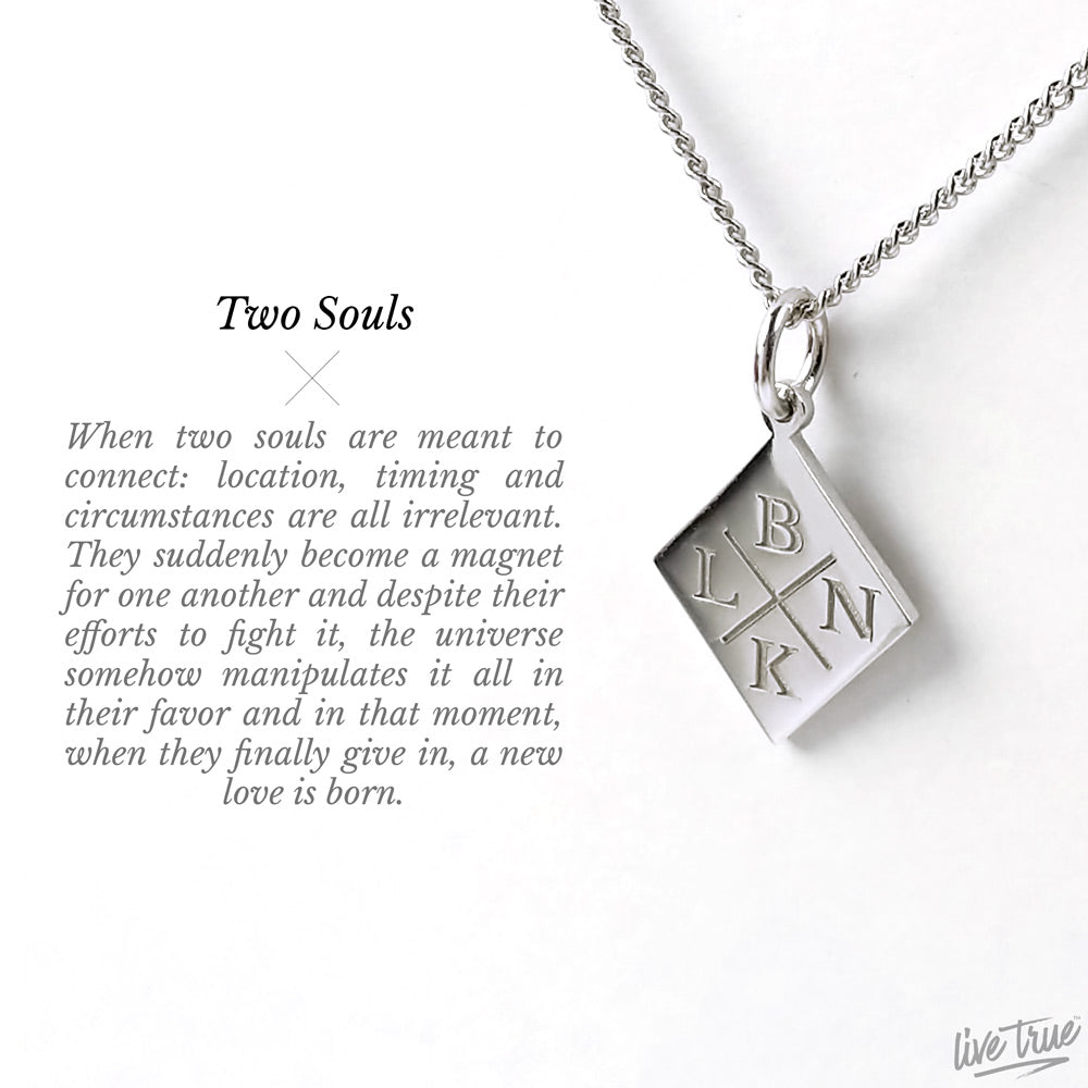 Personalized Two Souls Necklace 925 Sterling Silver