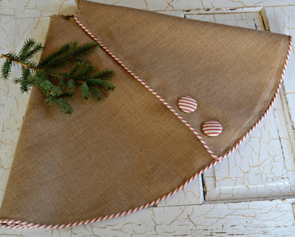 tree skirt burlap tree skirt christmas tree redwhite ticking monogrammed tree skirt large