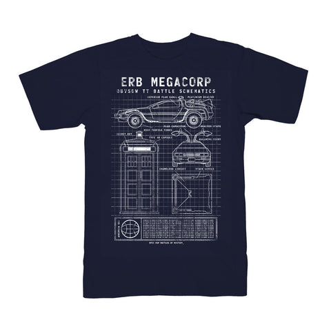 Doc Brown vs Dr Who T-Shirt (Navy)