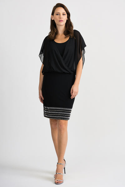 Joseph Ribkoff Dress Style 201166 in Black