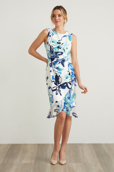 Joseph Ribkoff Dress Style 212193 in Vanilla / Multi