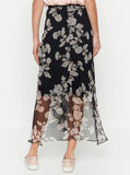 Luxe Deluxe Butterflies Elasticated Midi Skirt