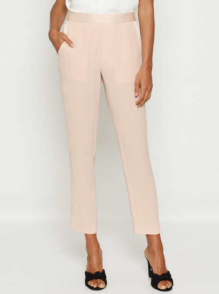 Luxe Deluxe Fast Fix Crop Pant in Cream Tan