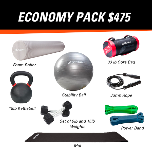 At Home Fitness - Economy Pack (Medium Weight)