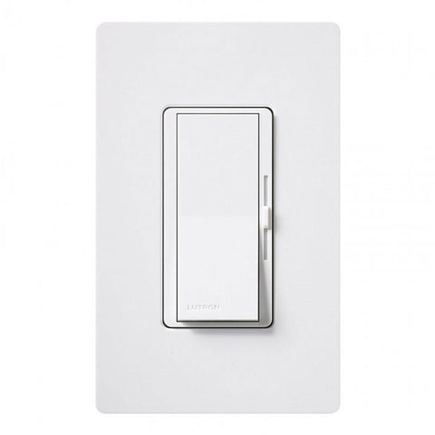 Lutron Diva DVCL-153PH-WHC Light Dimmer Switch for LED Lighting Single Pole or 3-Way White (Wallplate Included)