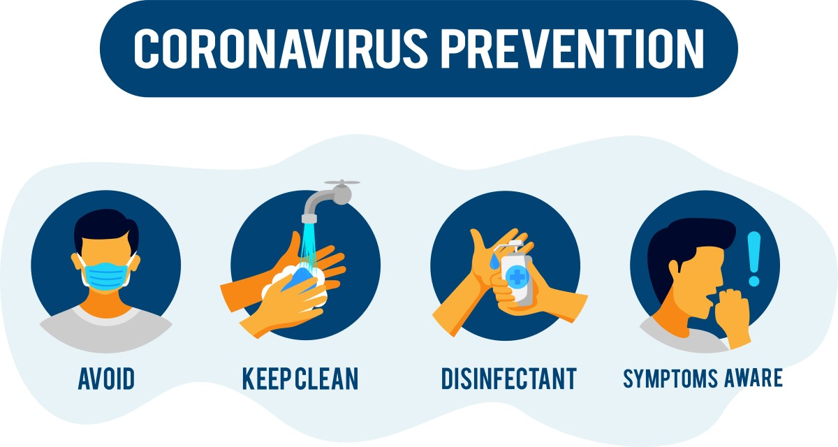coronavirus prevention images and receiving shipments and covid-19 safety