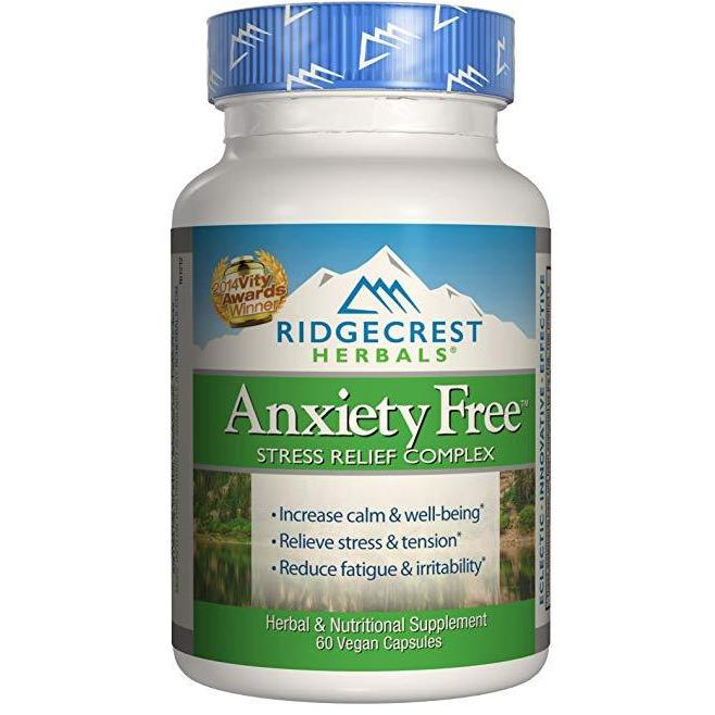 Ridgecrest Anxiety Free Herbal And Nutrition Stress Support, 60 Count