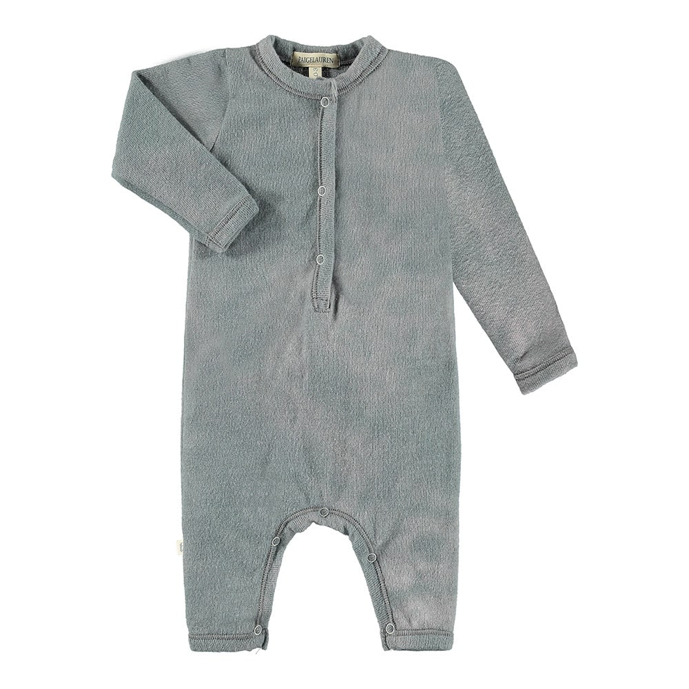 Baby Henley L/S Hacci Coverall-Wild Life