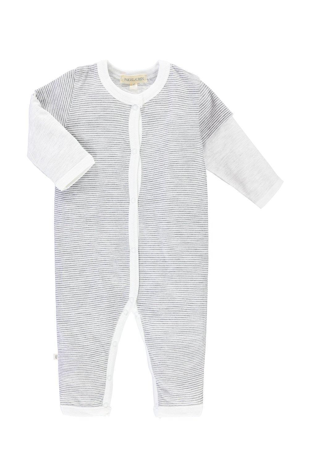 Baby Long-Sleeved Twofer Romper - Rock N' Roll - PAIGELAUREN
