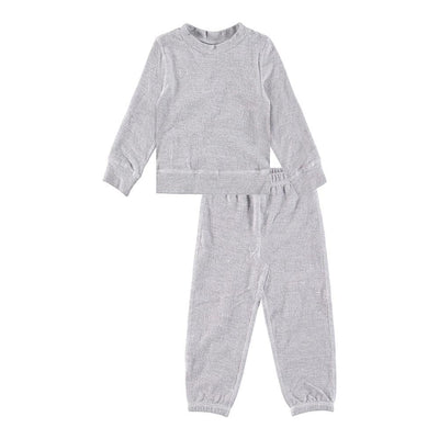 Kid Heathered Fleece Sweatsuit-Loungewear - PAIGELAUREN