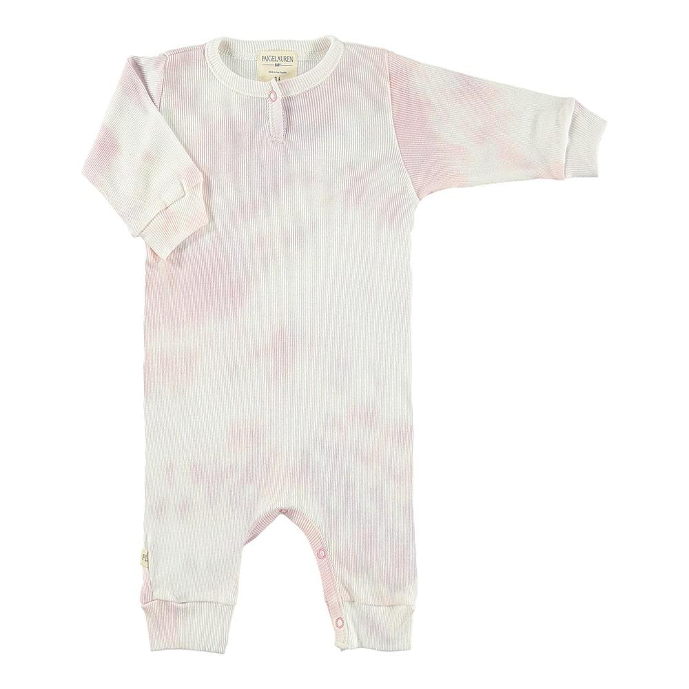 Baby 2X1 Rib Tie Dye Coverall-Peace & Love - PAIGELAUREN