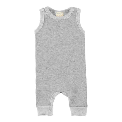 Baby Loop Terry Tank Pull Over Romper-Peace & Love