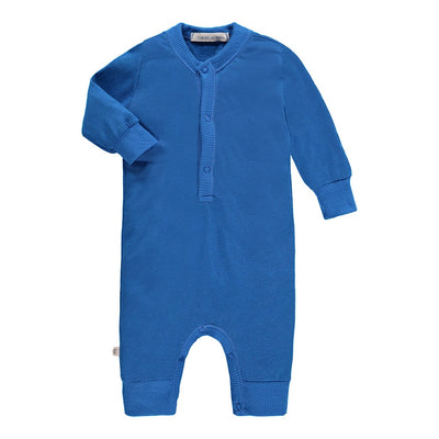 Baby Heathered L/S Henley Coverall-Palm Springs