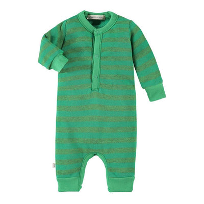 Baby Stripe French Terry Henley L/S Coverall-Palm Springs