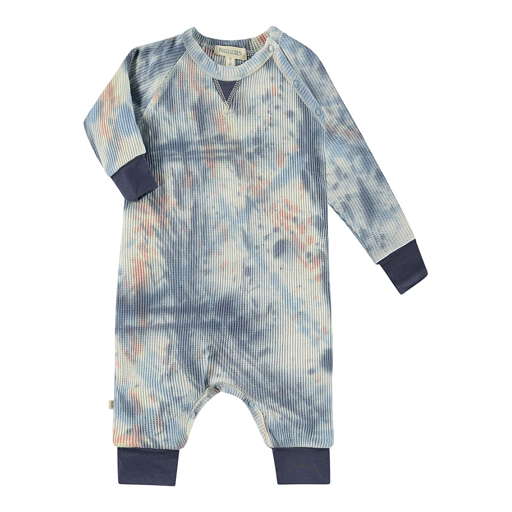 Baby Thermal Splatter Coverall-Peace & Love - PAIGELAUREN