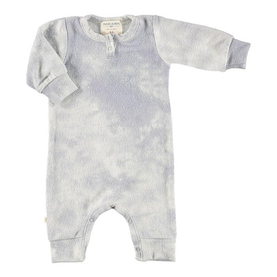 Baby Henley L/S Tie Dye Hacci Coverall-Peace & Love - PAIGELAUREN
