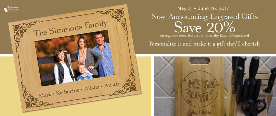 20% off Engraved Gifts
