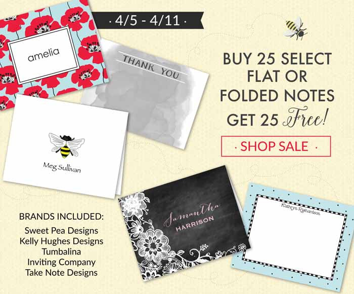 Flat and Folded Note Sale - 2 for 1!