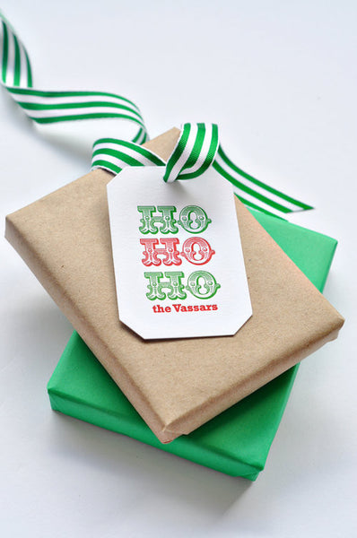 Holiday Letterpress Gift Tags