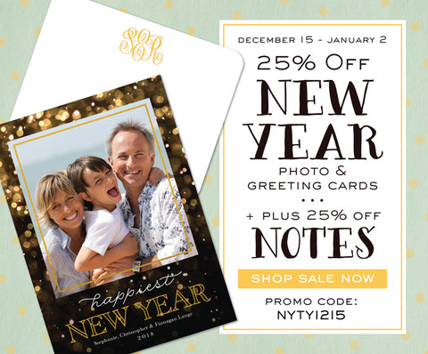 25 off new year cards 25 off notes