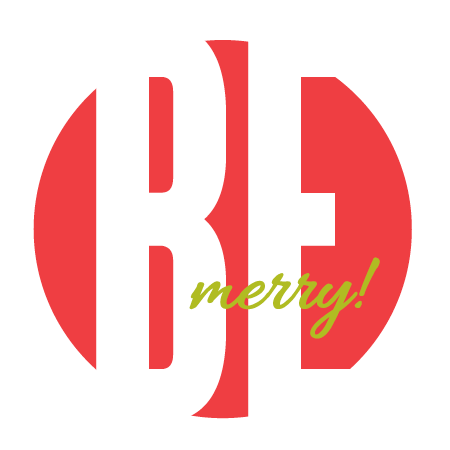"""Be Merry"" Red Sticker"