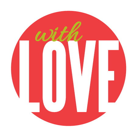 """With Love"" Red Sticker"