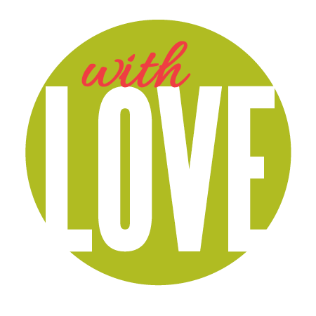 """With Love"" Green Sticker"